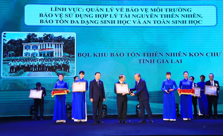 Ban Quản lý Khu Bảo tồn thiên nhiên Kon Chư Răng đạt Giải thưởng môi trường Việt Nam